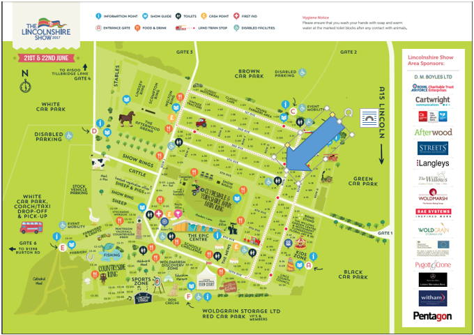 Lincolnshire Show Map 2017
