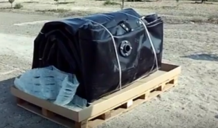 Bladder Tanks - Collapsible pillow tank - folded